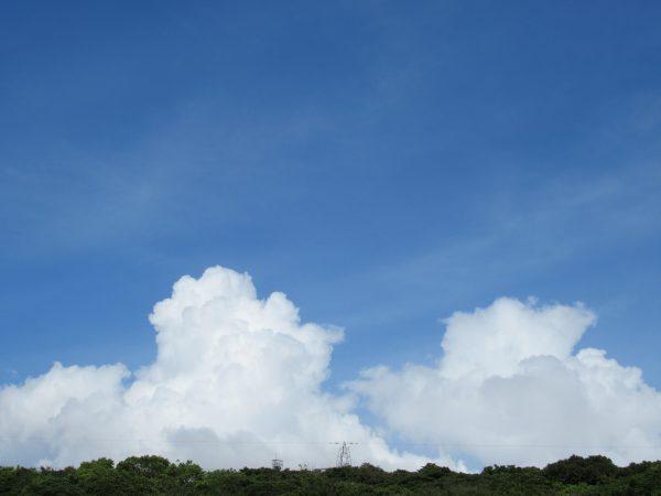 今日、空を見て思うこと